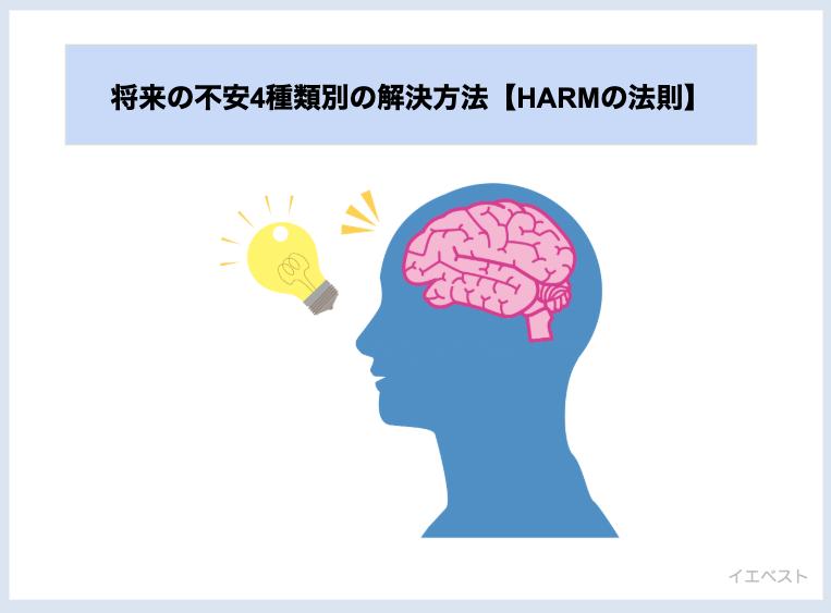 将来の不安4種類別の解決方法【HARMの法則】