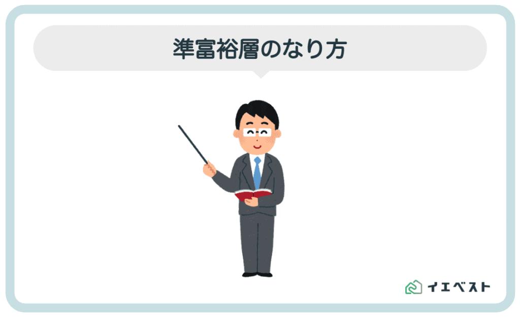 3.準富裕層のなり方【サラリーマン・自営・投資】